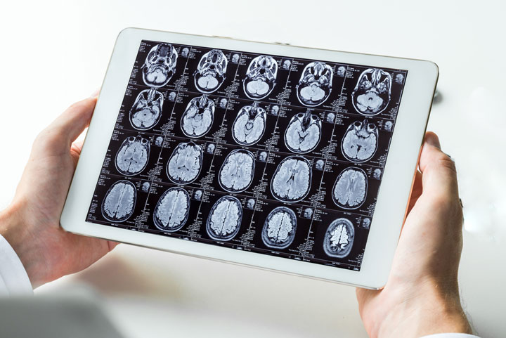 Radiologist working - by tablet